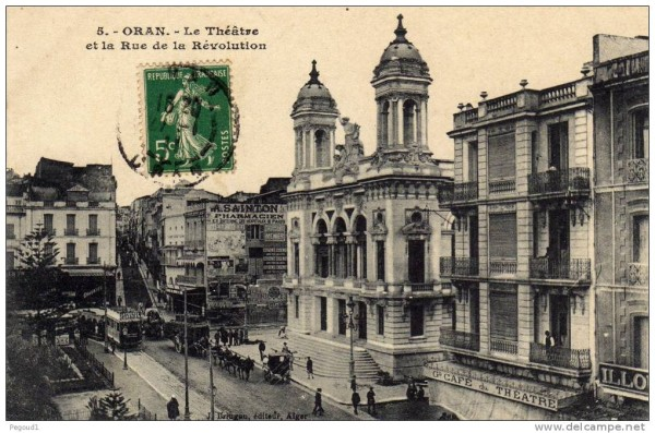 158979-carte-postale-ancienne-algerie-oran-le-theatre-1911