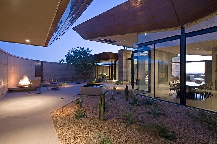 Une Maison Minimaliste En Plein Milieu Du D 233 Sert