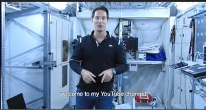 L'astronaute français Thomas pesquet inaugure sa chaine youtube lors de la soirée Brandcastfr 2017