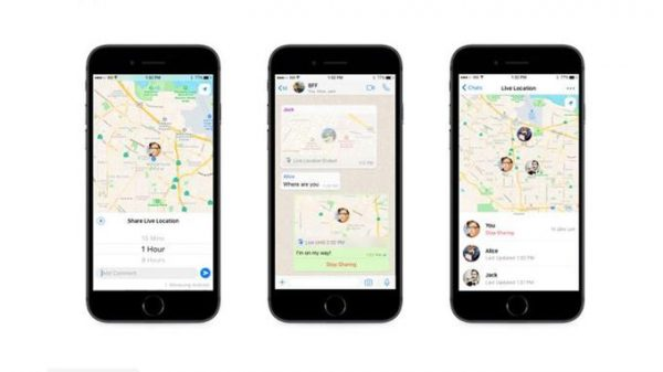 Chaque personne dans la discussion pourra voir votre localisation en temps réel sur une carte. Et si plusieurs personnes partagent leur Localisation en direct dans un groupe, toutes les localisations seront visibles sur la même carte. Capture d'écran WhatsApp