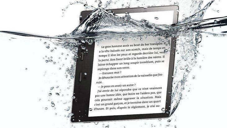 La nouvelle liseuse Kindle Oasis 7 pouces résistante à l'eau
